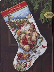 Dim08752 Santa Journey Stocking (228x300, 38Kb)