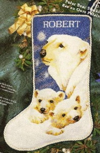 Janlynn 013-0247 Polar Bear Stocking (196x300, 36Kb)