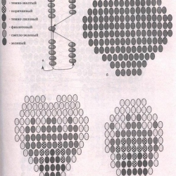 плетение из бисера цветы схемы - Уголок конструктора.