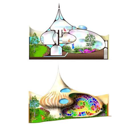 Архитектор спроектировал дом в форме раковины моллюска наутилуса, обитающего в восточной.
