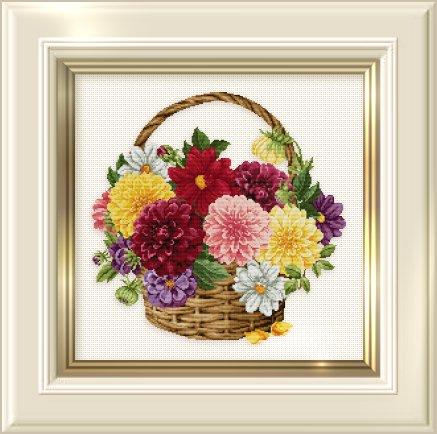 _129 Dahlia Basket (437x434, 43Kb)
