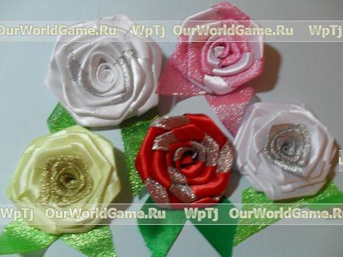 Мастер-класс розы из лент