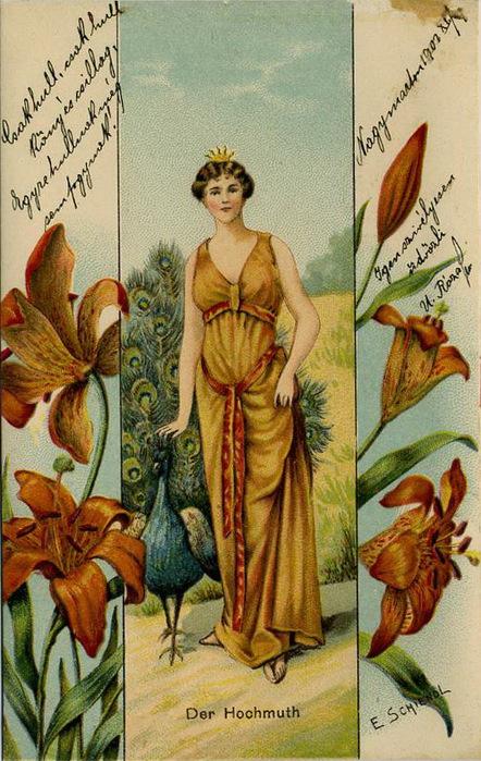 Язык цветов старинные открытки 71