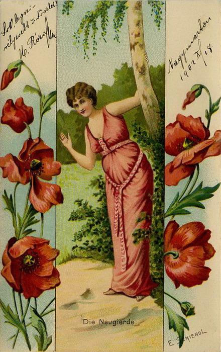 Язык цветов старинные открытки 2