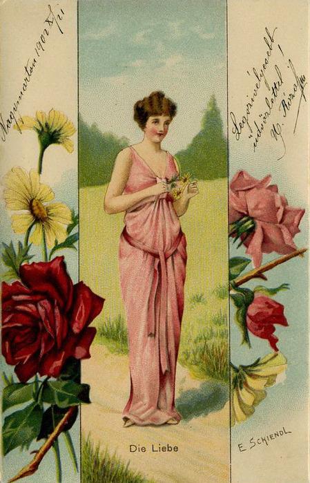 Язык цветов старинные открытки 6