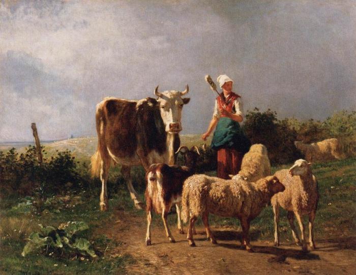 2010239_Troyon,_Constant_Return_of_the_Herd_1860 (700x540, 298Kb)