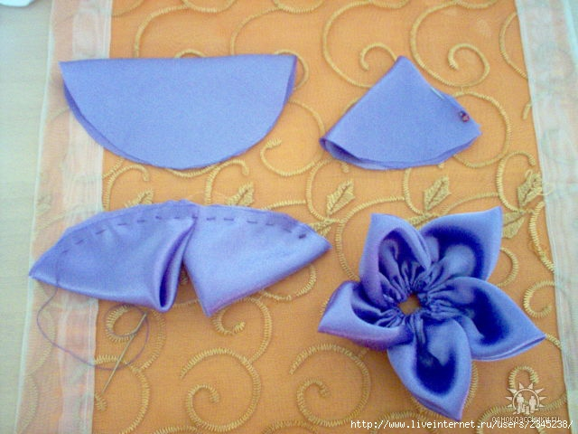 Сделать цветы своими руками из ткани для штор своими руками