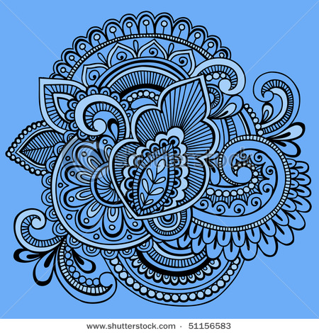 stock-vector-hand-drawn-intricate-mehndi-henna-tattoo-paisley-doodle-vector-illustration-on-blue-background-51156583 (450x470, 167Kb)