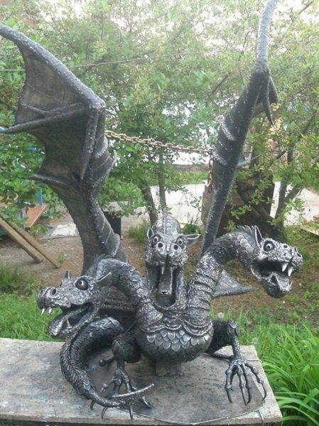 Скульптуры из металла.  Скульптура и лепка.