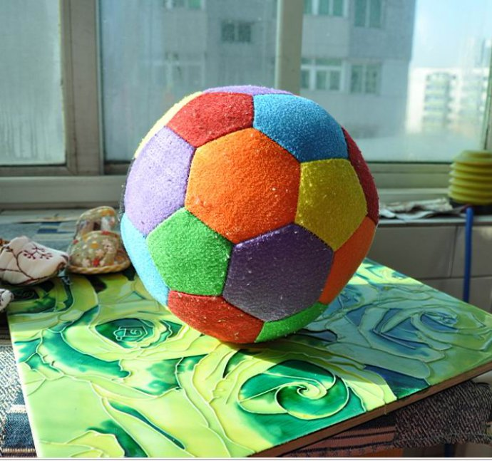 Мягкий мяч для малышей своими руками 4