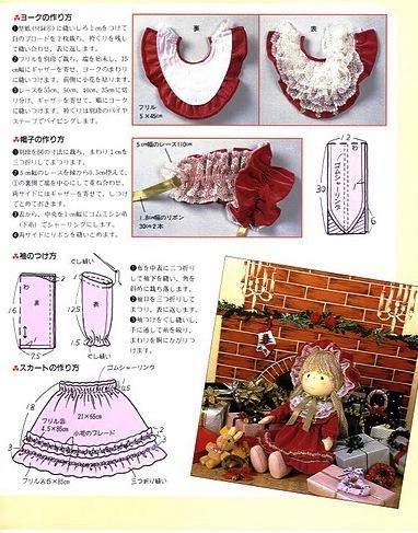 как сшить мягкую текстильную куклу