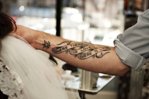 Очень красивые тату на руке
