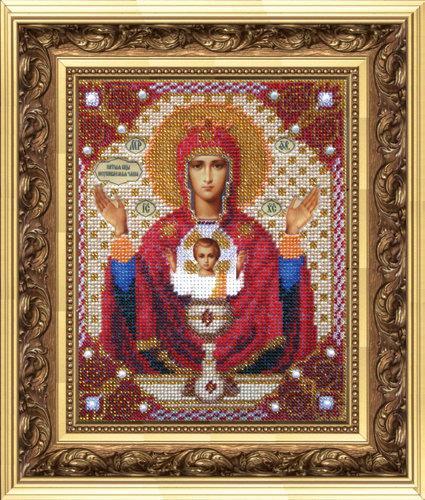 Набор для вышивания бисером Чарівна мить: Икона Икона Божьей Матери Неупиваемая чаша (Б-1009) .