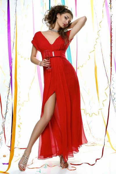 Дизайнерское вечернее платье из