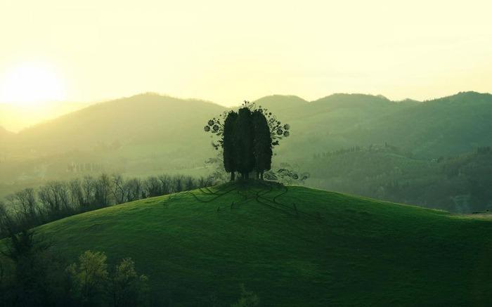 романтический пейзаж 13