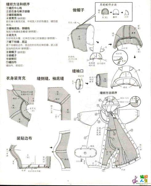 Выкройка зимнего комбинезона для новорожденного своими руками