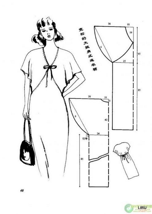 Быстрое шитье платьев и схемами