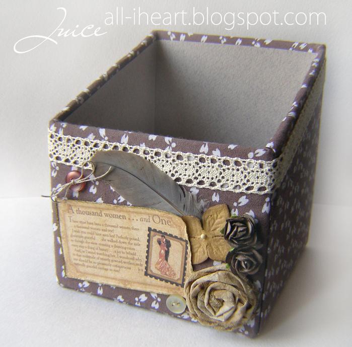 Декоративная коробка своими руками