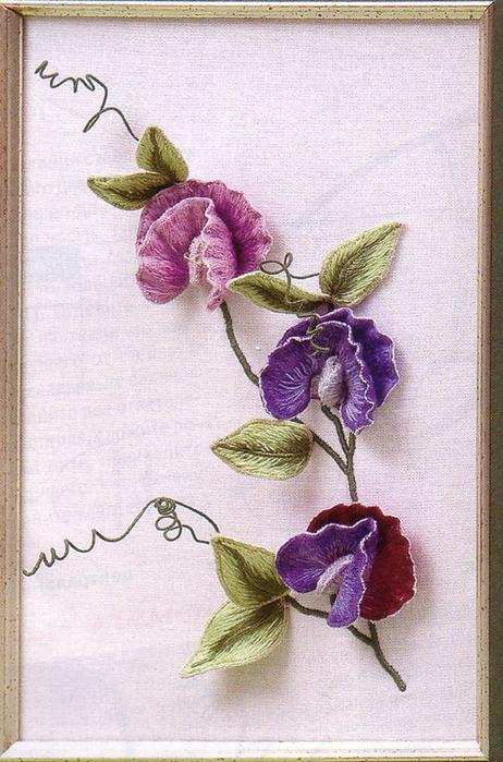 Для создания цветочной вышивки