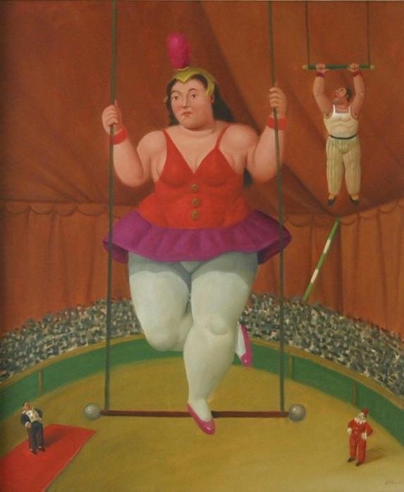Художник который рисует толстых людей