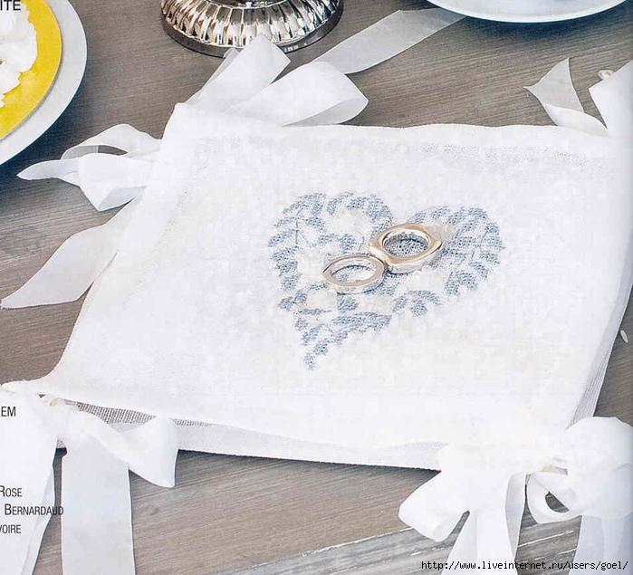 Вышивка свадебных картинок