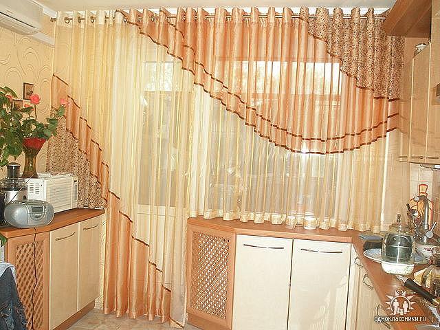 Тюли на люверсах на кухню своими руками