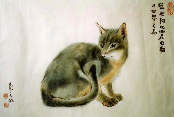 Макияж кошки мастер класс акварель пошагово #11