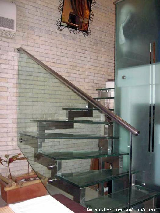 Стеклянные ограждения для лестниц, перила со стеклом
