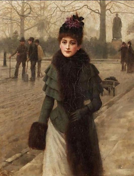 George Clausen.A Winter's Walk (533x700, 239Kb)