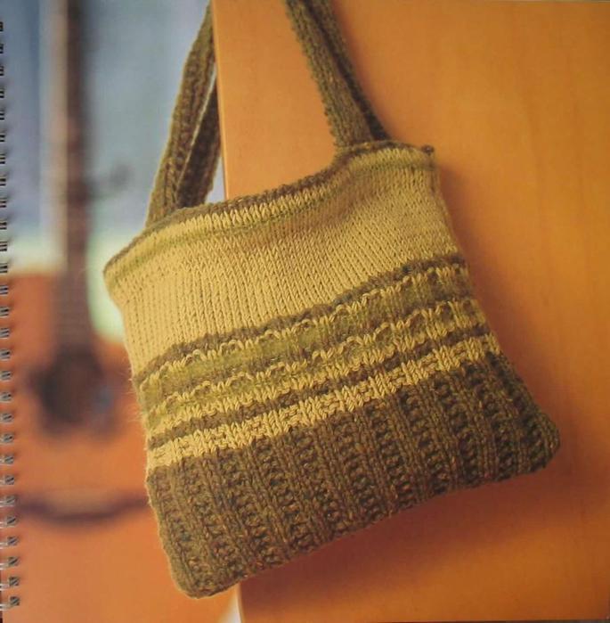 Вязаные сумки, чехлы для мобильных телефонов.