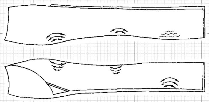 Схема отутюживания брюк.