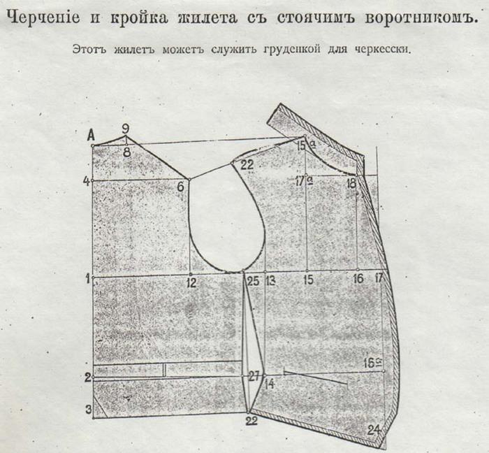 Выкройка казачьей тафьи