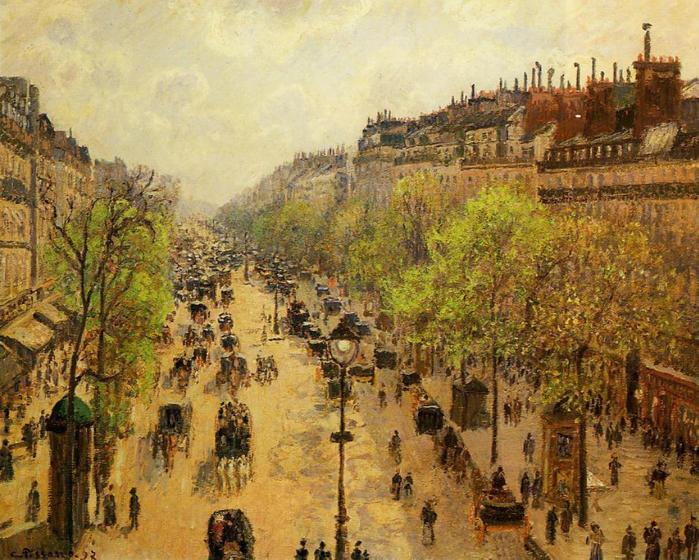 Boulevard Montmartre - Spring, 1897 (700x560, 112Kb)