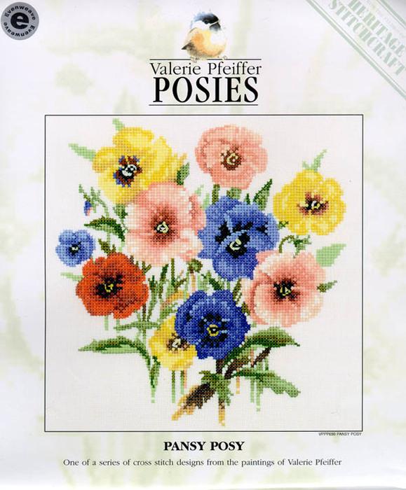 букеты цветов.схема вышивки