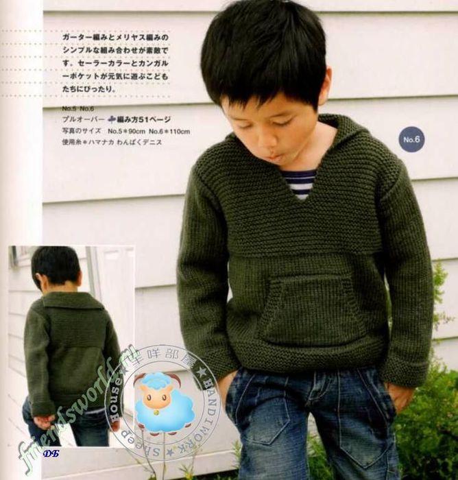 74352330 3661726 zelenii pylover dlya malchika 2012 Kış Erkek Çocuk Örgü Modelleri, Erkek Örgüleri, Erkek Çocuk Şık El Örgüsü Modeller