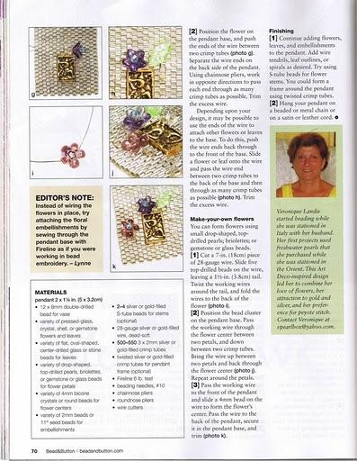 ожерелье, схема плетения кулончика