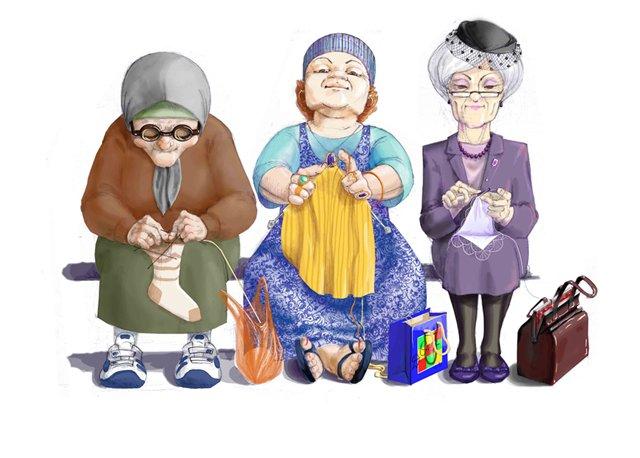 Смешные про старушек открытки