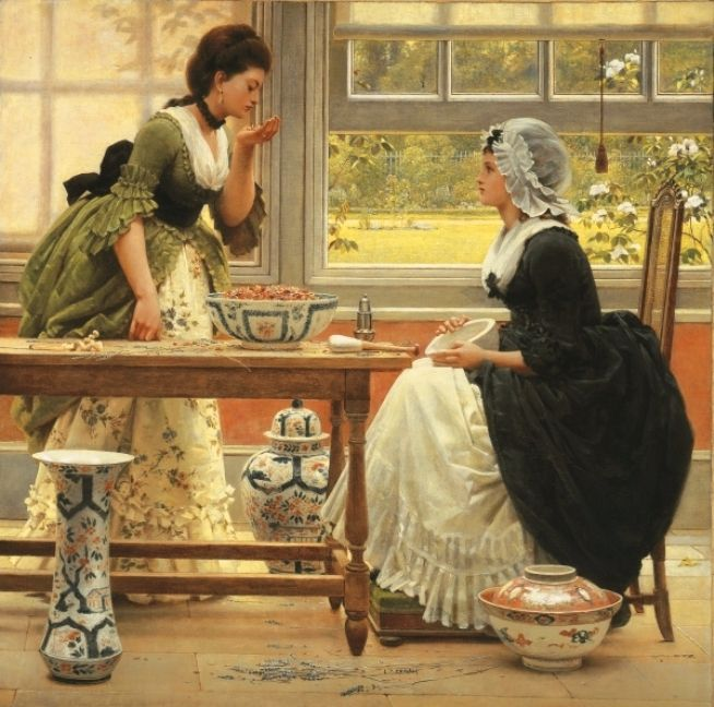 George Dunlop Leslie «Pot Pourri» 1874 (654x648, 79Kb)