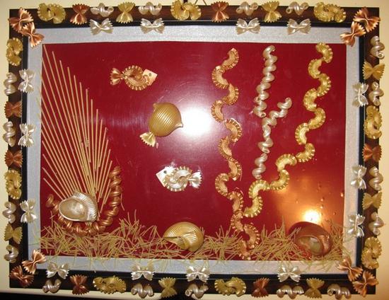 Картина из макарон своими руками фото
