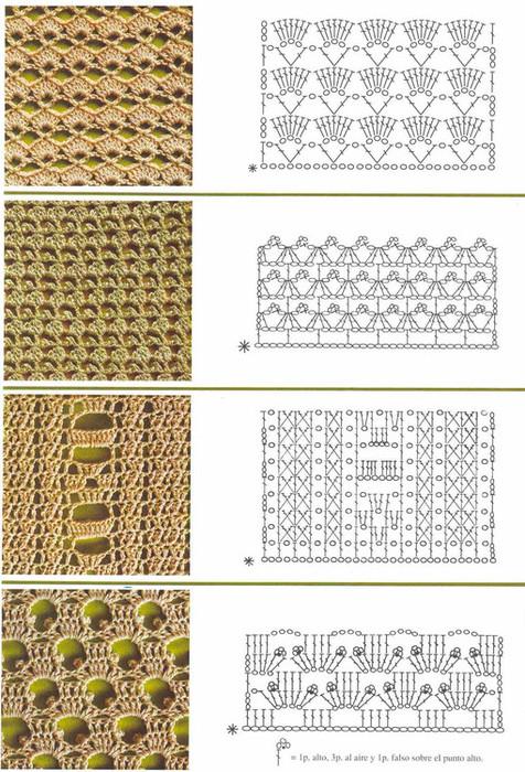 Вязание крючком образцы узоров схемы 65