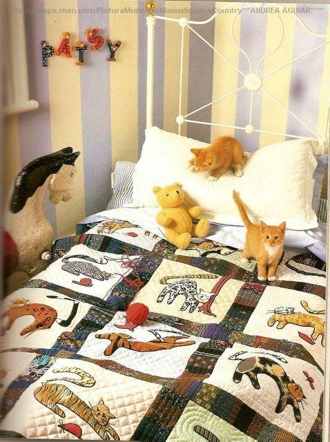 Плед с кошками