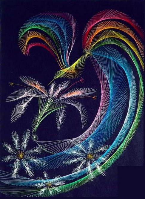 String art by Olga Voronova.