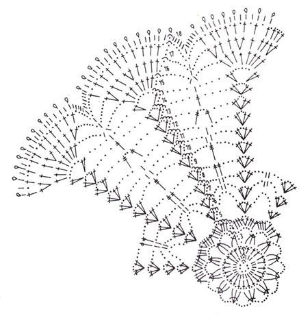 схема вязания мини-салфетки