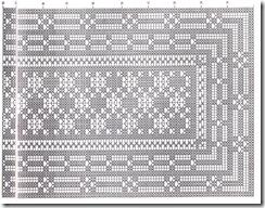 Схема вязания дорожки