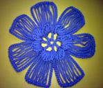 МК «Цветок, связанный на вилке крючком». Обсуждение на LiveInternet - Российский Сервис Онлайн-Дневников