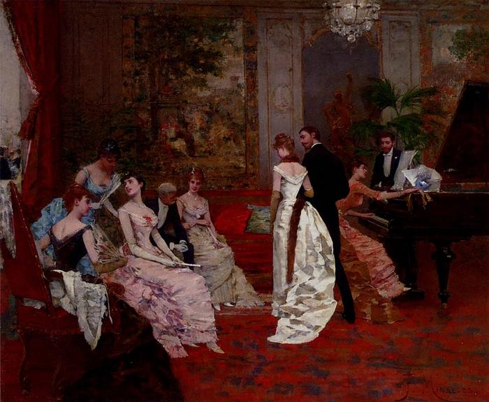 Francisco Miralles  (1848-1901)  -  The Recital (700x576, 336Kb)