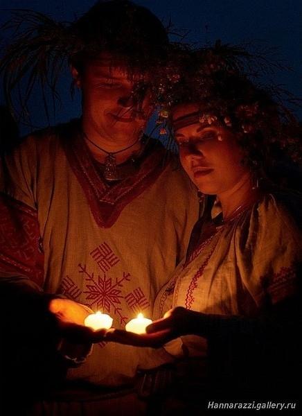 ночь, славяне, свечи (436x600, 123Kb)