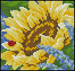 Превью Sunflower and Ladybug cxema (198x189, 72Kb)