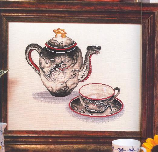 чайник с чашкой (522x500, 132Kb)