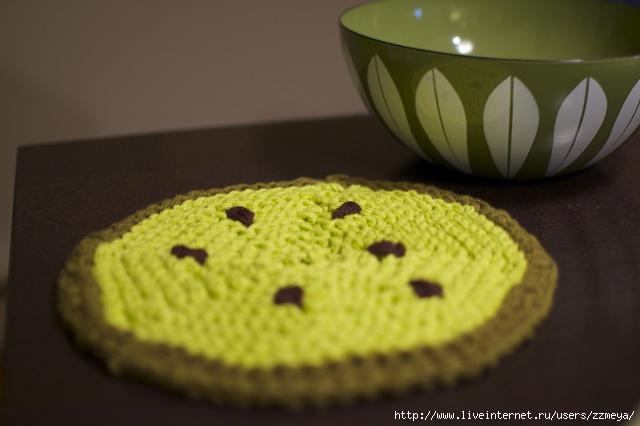 """针织锅垫:""""一片西瓜""""(非常详细) - maomao - 我随心动"""